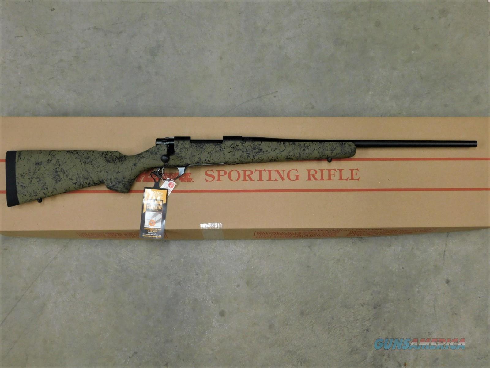 "HOWA 1500 HS PRECISION 22"" 6.5 CREEDMOOR GREEN / BLACK SKU: HHS62503  Guns > Rifles > Howa Rifles"