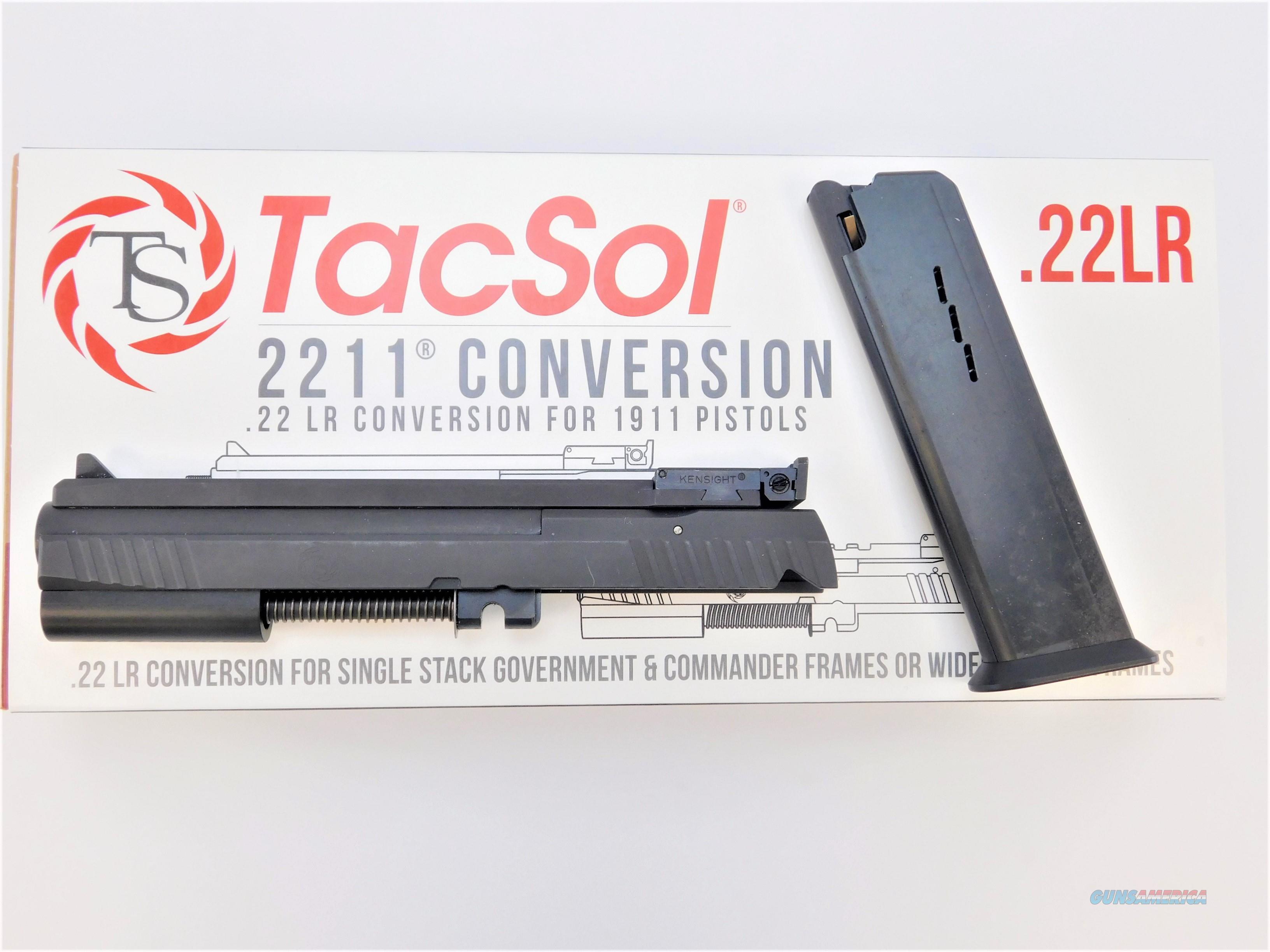Tactical Solutions 2211 1911 .22 LR Conversion Kit Flat Rail Non-Threaded 2211CON-STDSS-STD  Non-Guns > Gun Parts > 1911