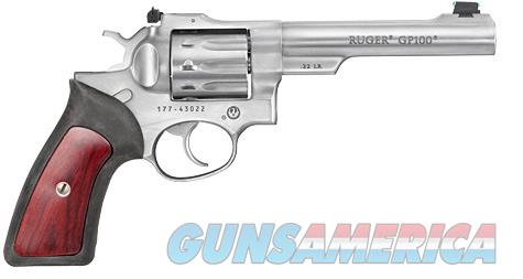 Ruger GP100 Standard Double-Action Stainless .22 LR  1757  Guns > Pistols > Ruger Double Action Revolver > GP100