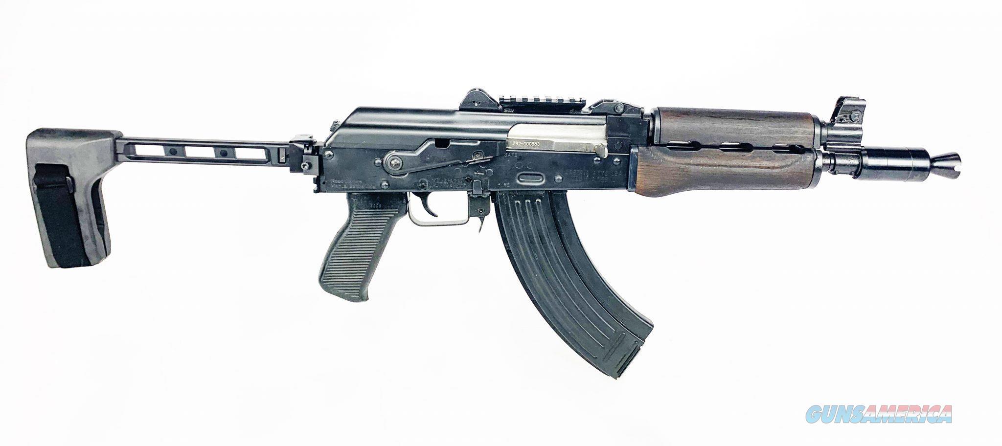 """Zastava ZPAP92 AK-47 with Tactical Brace 7.62x39mm 10"""" ZP92762PAB  Guns > Pistols > Zastava Arms"""