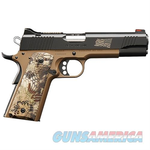 "Kimber Hero Custom .45 ACP Desert Tan 5"" Fiber Optic 3200383  Guns > Pistols > Kimber of America Pistols > 1911"