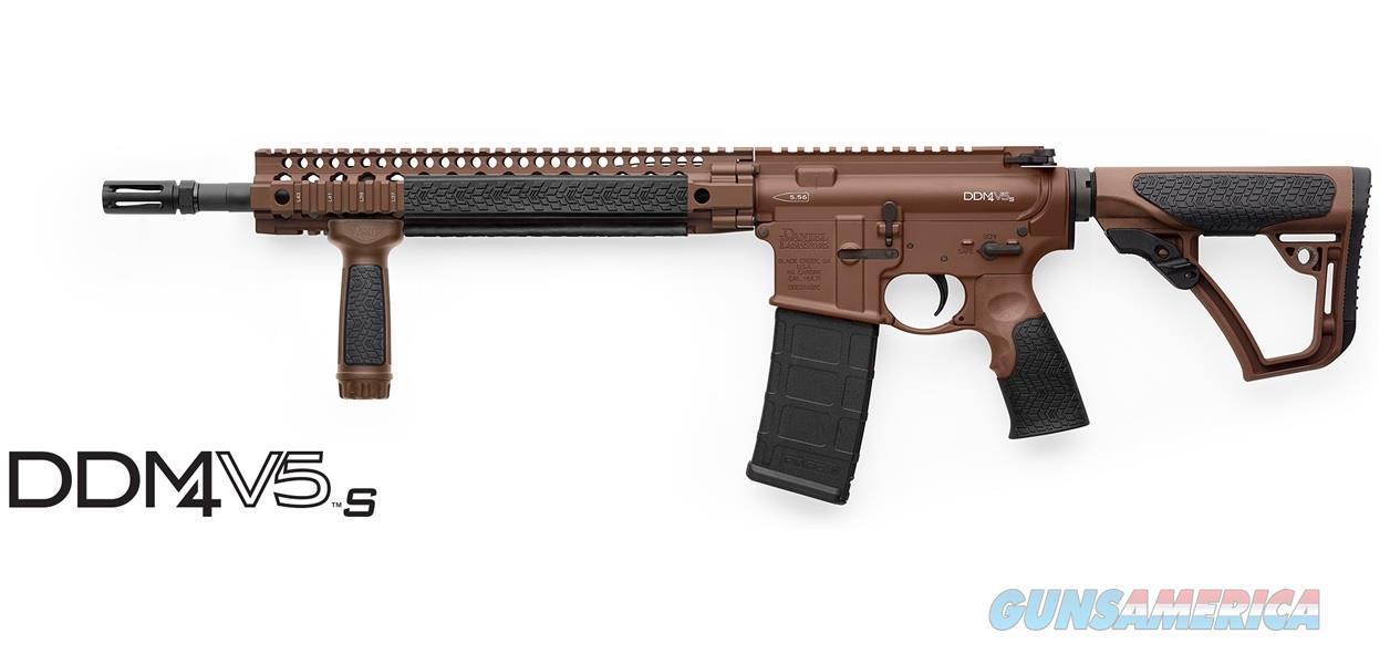 Daniel Defense DDM4V5 S 5.56 NATO Brown Cerakote 02-123-14185-047  Guns > Rifles > Daniel Defense > Complete Rifles
