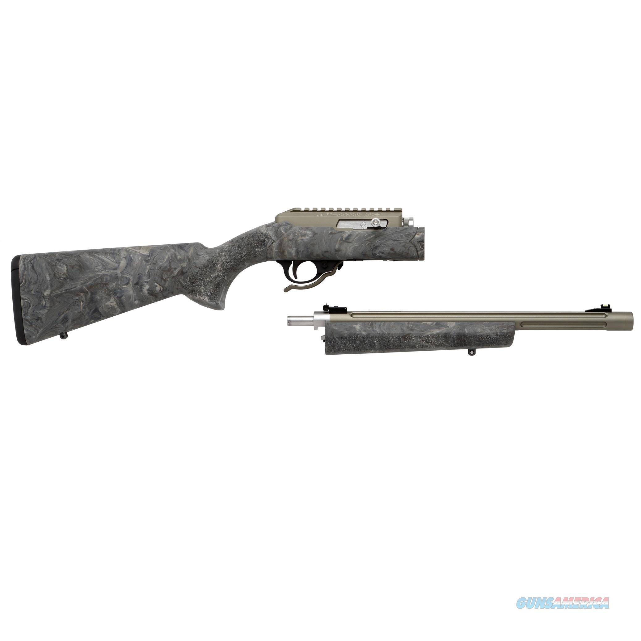 TACTICAL SOLUTIONS X-RING TAKEDOWN RIFLE HOGUE MATTE OD GREEN GHILLE 10/22 .22 LR TD-MOD-B-H-GGRN  Guns > Rifles > Ruger Rifles > 10-22