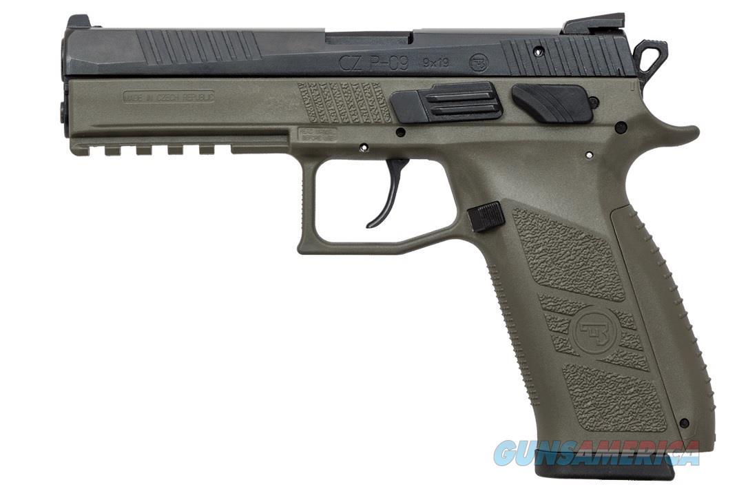 """CZ-USA CZ P-09 OD Green 9mm 4.54"""" Tritium Night Sights 91268   Guns > Pistols > CZ Pistols"""
