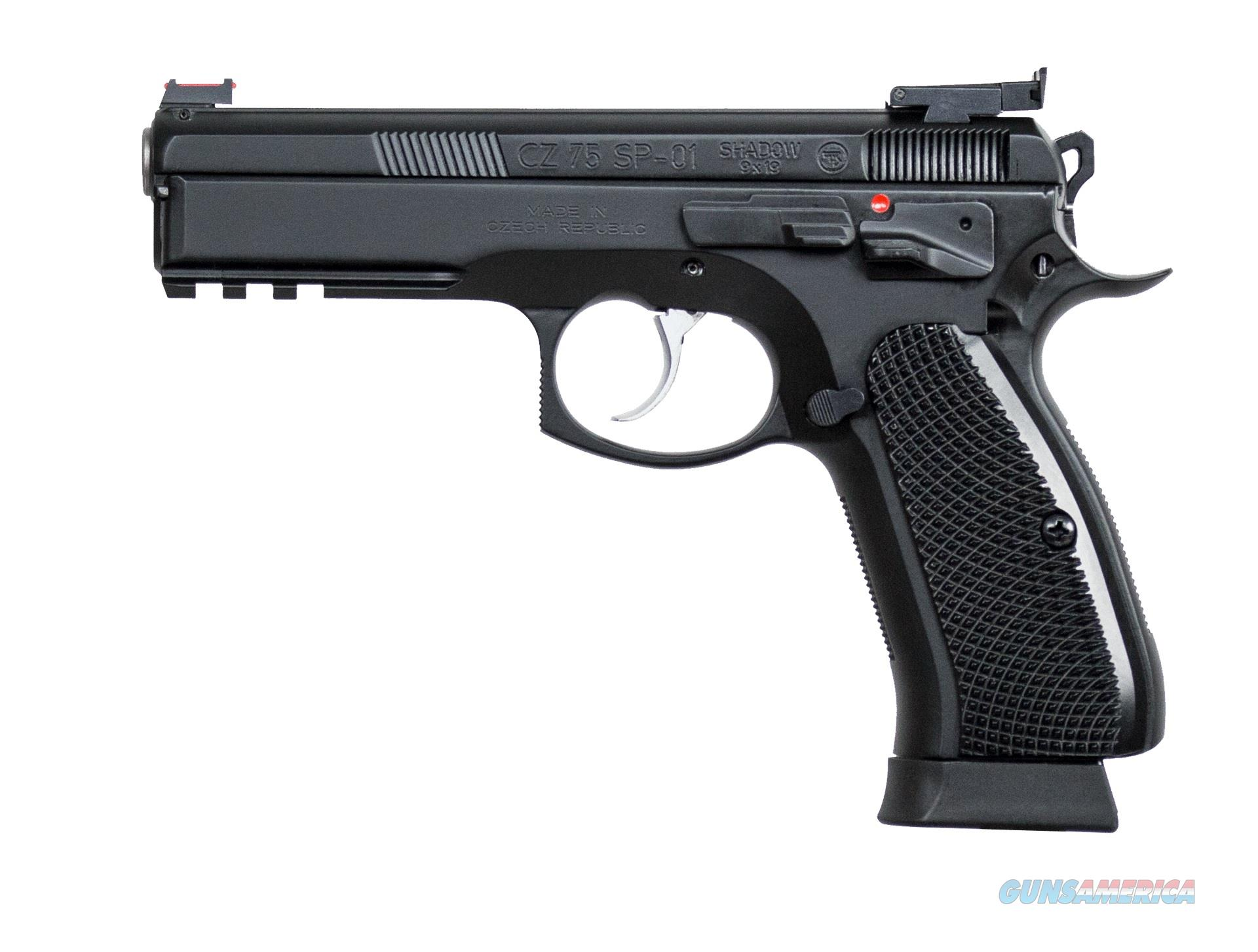 "CZ-USA CZ 75 SP-01 Shadow Target II Custom 9mm 4.6"" 91760   Guns > Pistols > CZ Pistols"