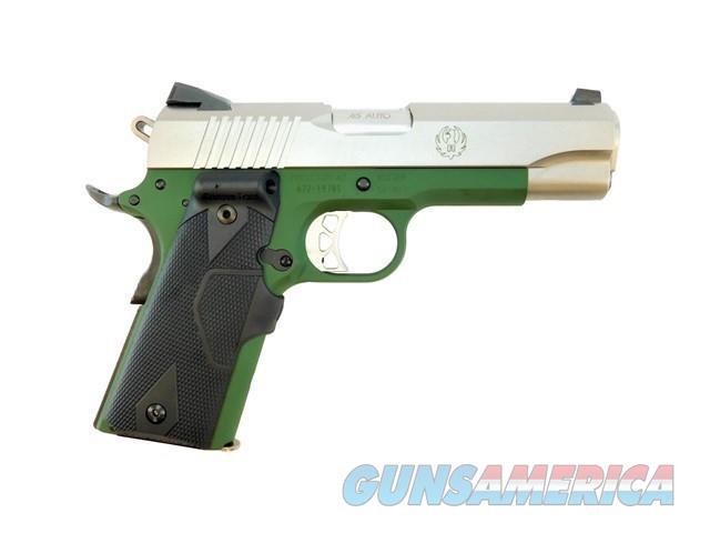 RUGER SR1911 COMMANDER .45 ACP LASEGRIPS CERAKOTE HGLND GREEN   Guns > Pistols > Ruger Semi-Auto Pistols > 1911