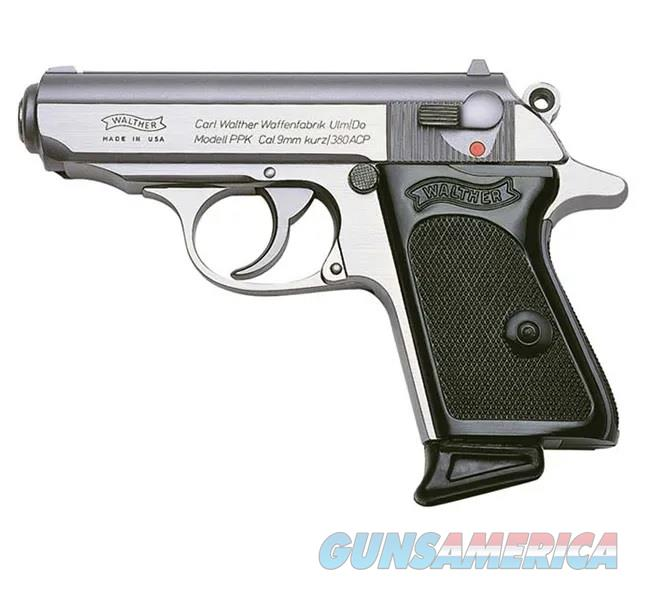 """Walther PPK .380 ACP 3.3"""" Stainless 6 Rds 4796001  Guns > Pistols > Walther Pistols > Post WWII > PPK Series"""