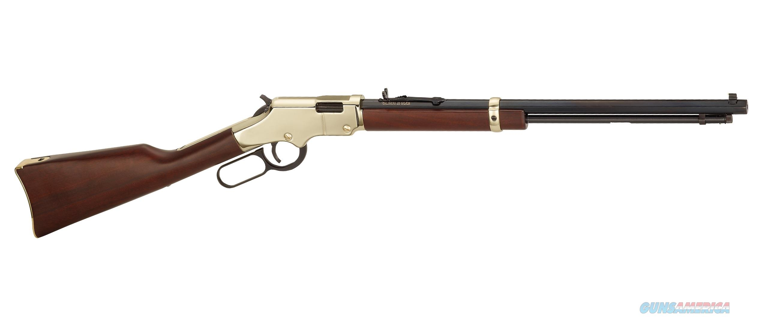 "HENRY GOLDEN BOY BRASS LEVER ACTION 20"" 22 LR H004  Guns > Rifles > Henry Rifle Company"