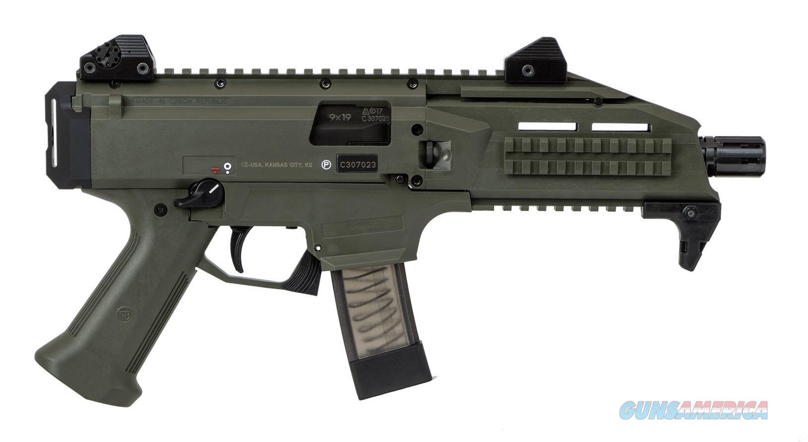 """CZ-USA Scorpion EVO 3 S1 9mm ODG 7.72"""" TB 91355   Guns > Pistols > CZ Pistols"""