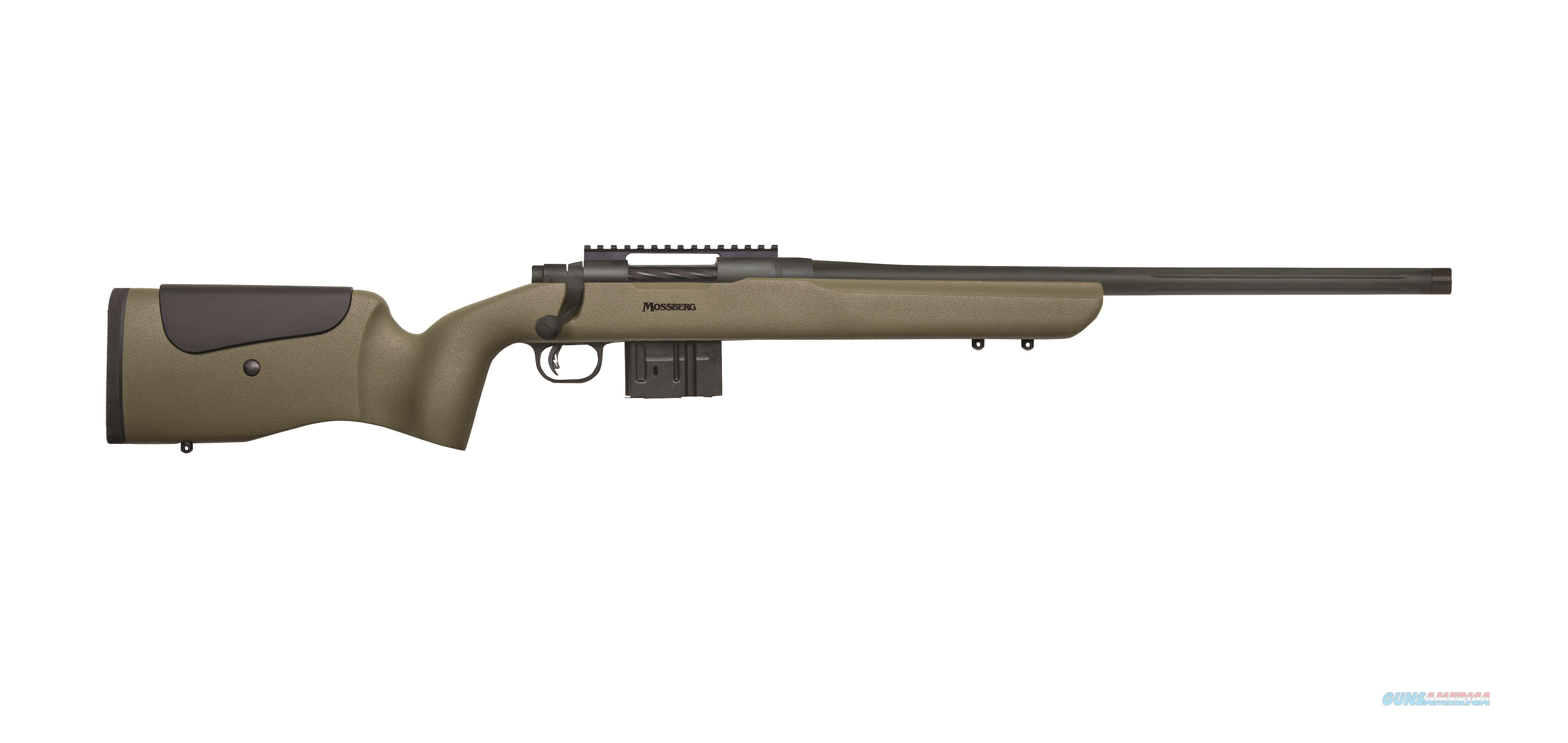 "Mossberg MVP LR Green Benchrest 20"" Threaded Barrel .308 Win 27697  Guns > Rifles > Mossberg Rifles > MVP"
