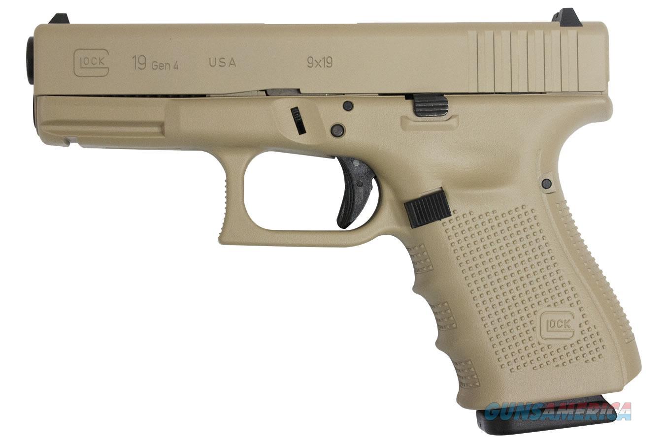 """Glock 19 G19 Gen4 9mm Desert Sand Cerakote 4"""" UG1950203DS   Guns > Pistols > A Misc Pistols"""