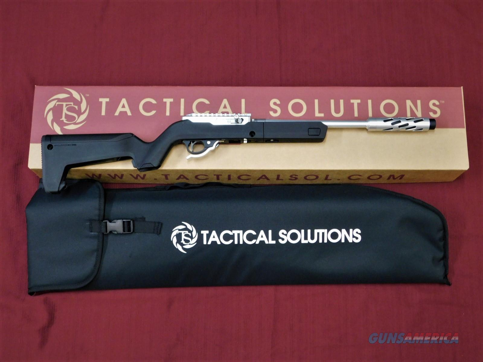 TACTICAL SOLUTIONS X-RING TD SBX MAGPUL BACKPACKER SILVER / BLACK .22 LR  Guns > Rifles > Ruger Rifles > 10-22