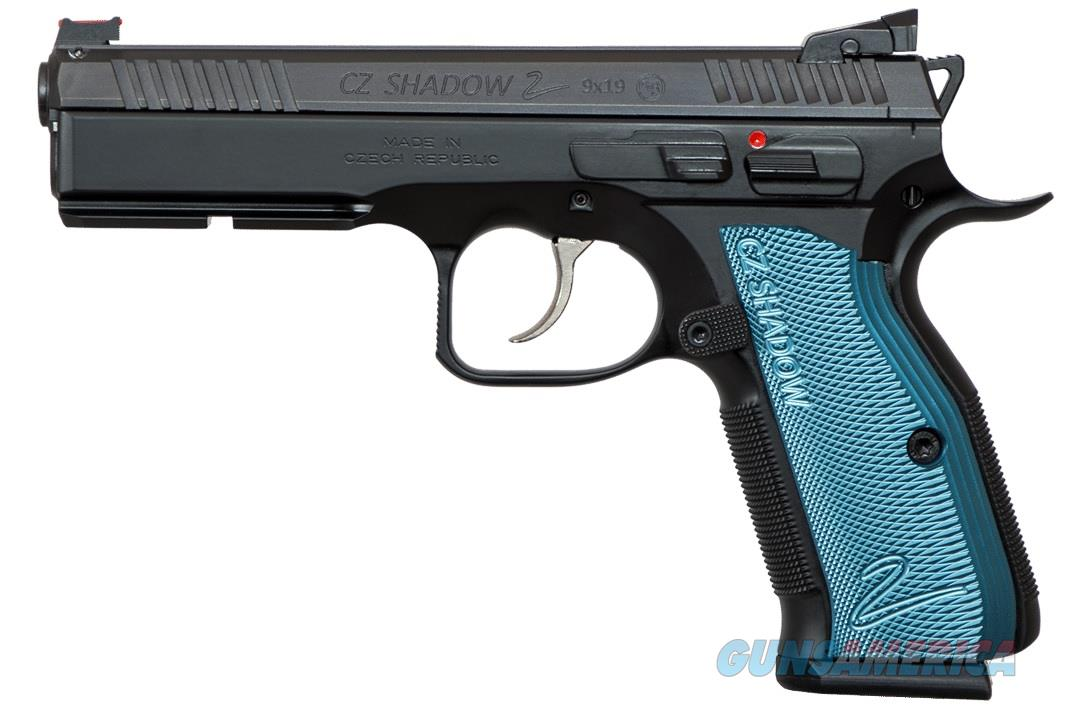 "CZ-USA CZ Shadow 2 9mm Black and Blue 4.89"" 17 Rds 91257   Guns > Pistols > CZ Pistols"