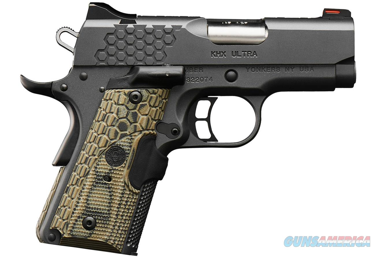 "Kimber KHX Ultra 9mm Fiber Optics Lase Grip 3"" 8 Rds 3000370   Guns > Pistols > Kimber of America Pistols > 1911"