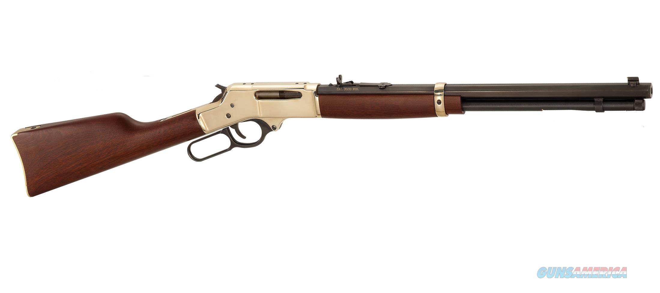 Henry Brass .30-30 Win. Lever-Action Rifle Octagon BBL H009B   Guns > Rifles > Henry Rifle Company