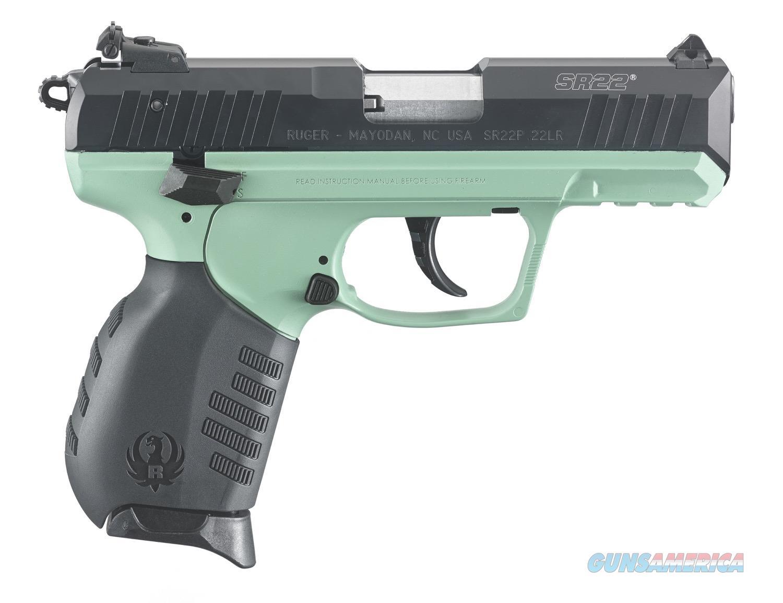 "Ruger SR22 Turquoise Cerakote .22 LR 3.50"" TALO 3625   Guns > Pistols > Ruger Semi-Auto Pistols > SR Family > SR22"