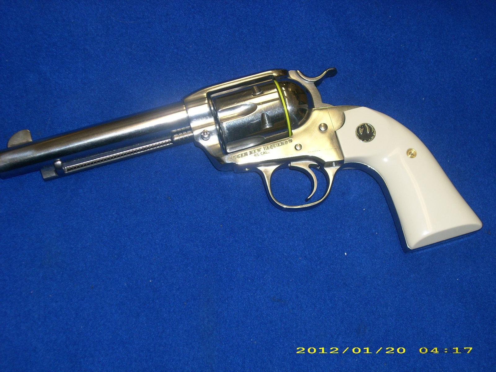 Ruger Vaquero .45 Colt Ivory Grips #5129  Guns > Pistols > Ruger Single Action Revolvers > Cowboy Action