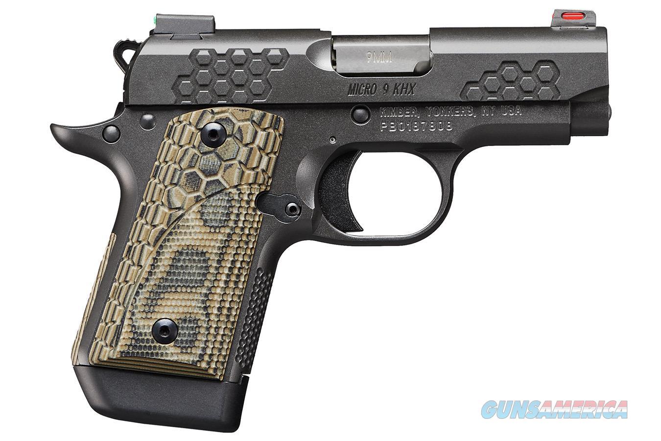 "Kimber Micro 9 KHX 9mm 3.15"" Fiber Optic 3300198  Guns > Pistols > Kimber of America Pistols > Micro 9"