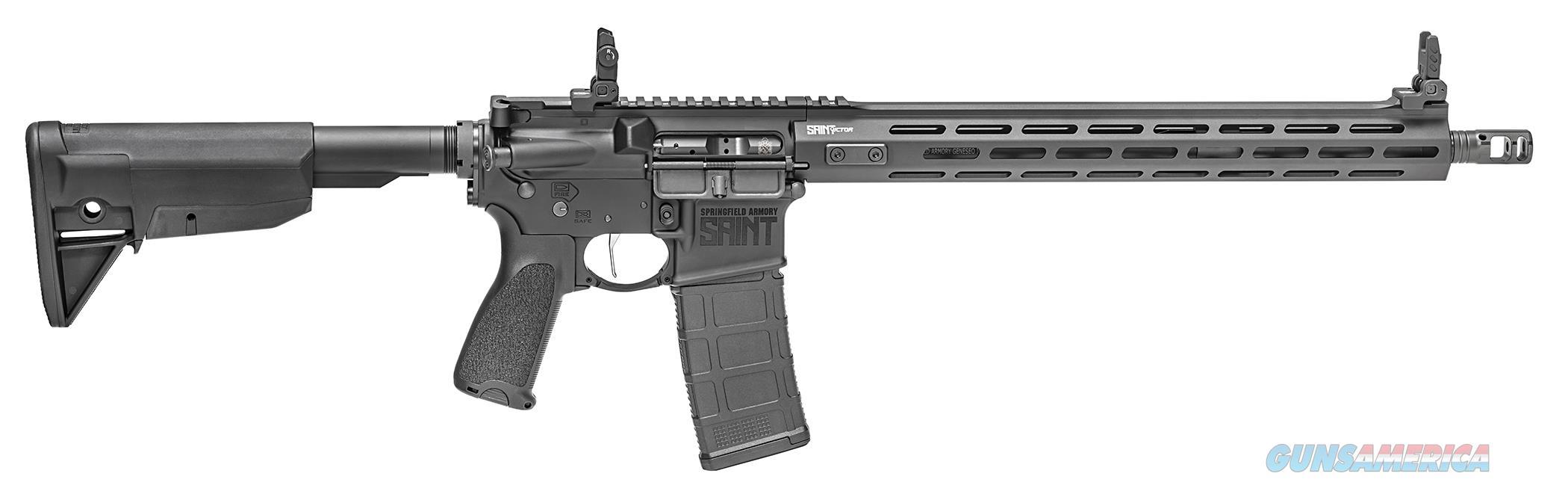 "Springfield SAINT Victor 5.56 NATO 16"" Black STV916556B  Guns > Rifles > Springfield Armory Rifles > SAINT"