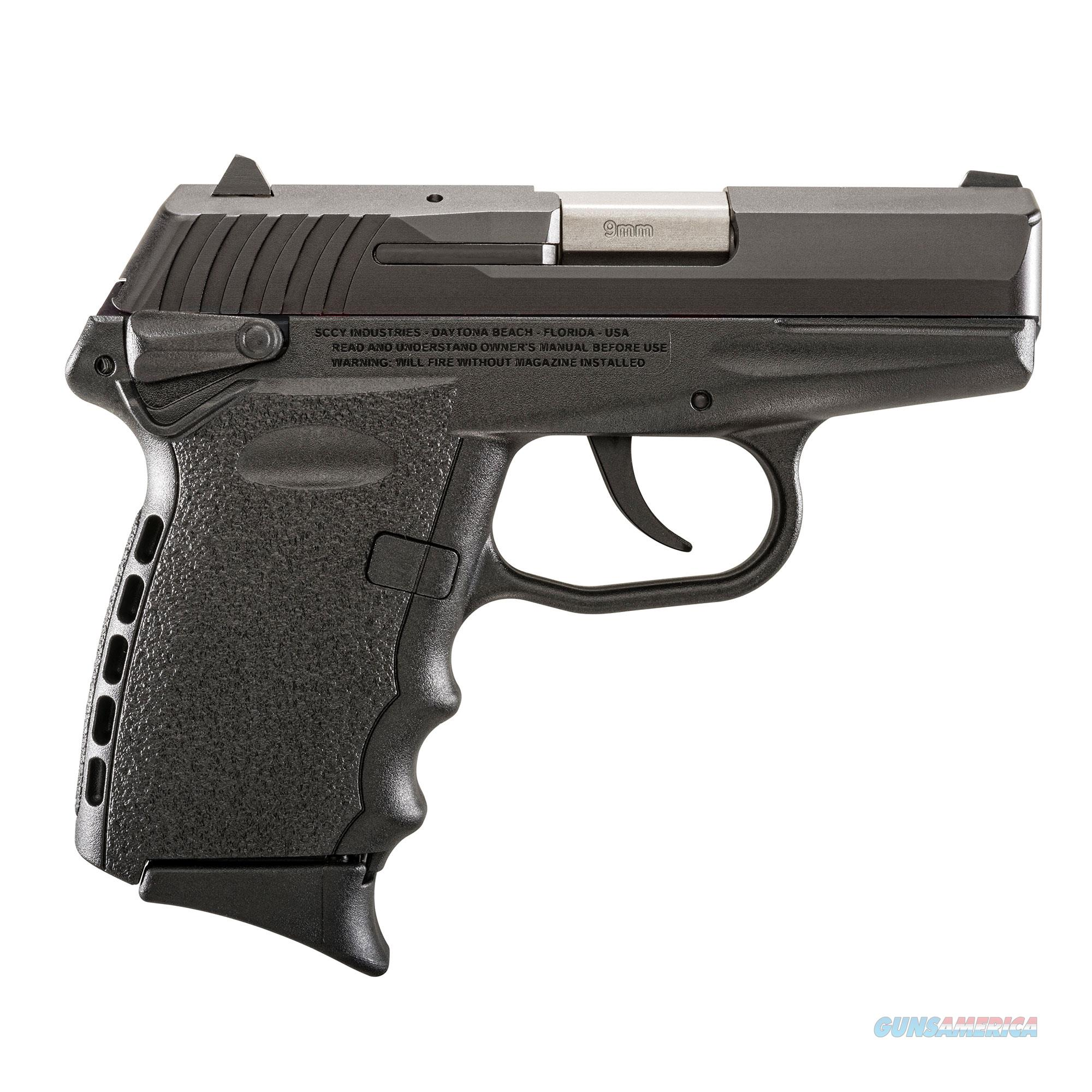 SCCY FIREARMS CPX-1 CB BLACK 9mm LUGER CPX1CB  Guns > Pistols > SCCY Pistols > CPX1