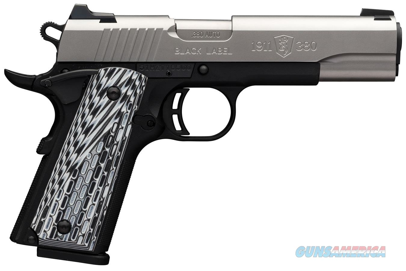 Browning 1911-380 Black Label Pro Stainless 051922492   Guns > Pistols > Browning Pistols > Other Autos