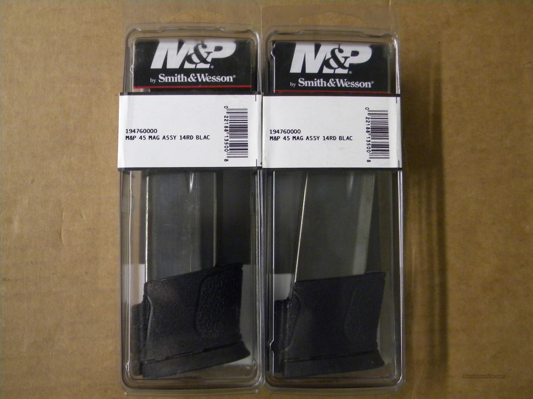 Smith & Wesson M&P 14 Round .45ACP/AUTO Magazine (2)  Non-Guns > Magazines & Clips > Pistol Magazines > Smith & Wesson