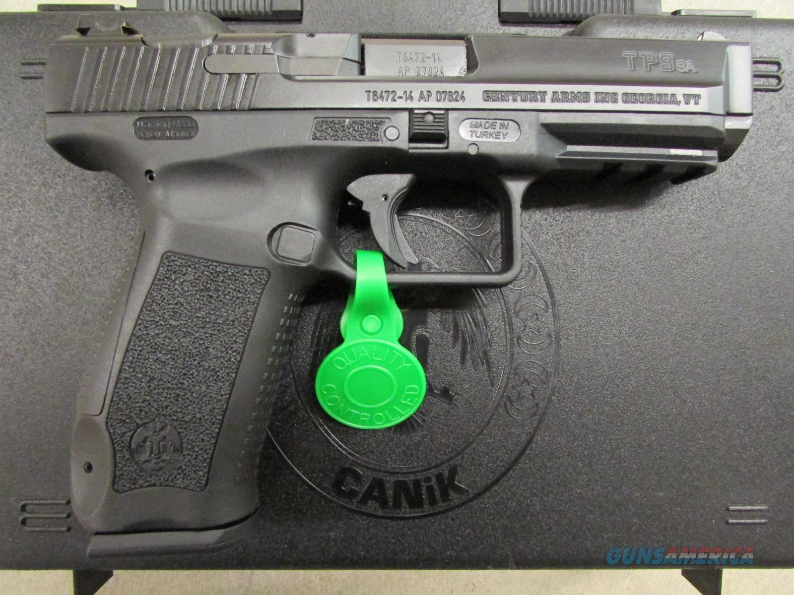 Century International Arms Canik TP9 SA Black 9mm HG3277-N  Guns > Pistols > Century International Arms - Pistols > Pistols