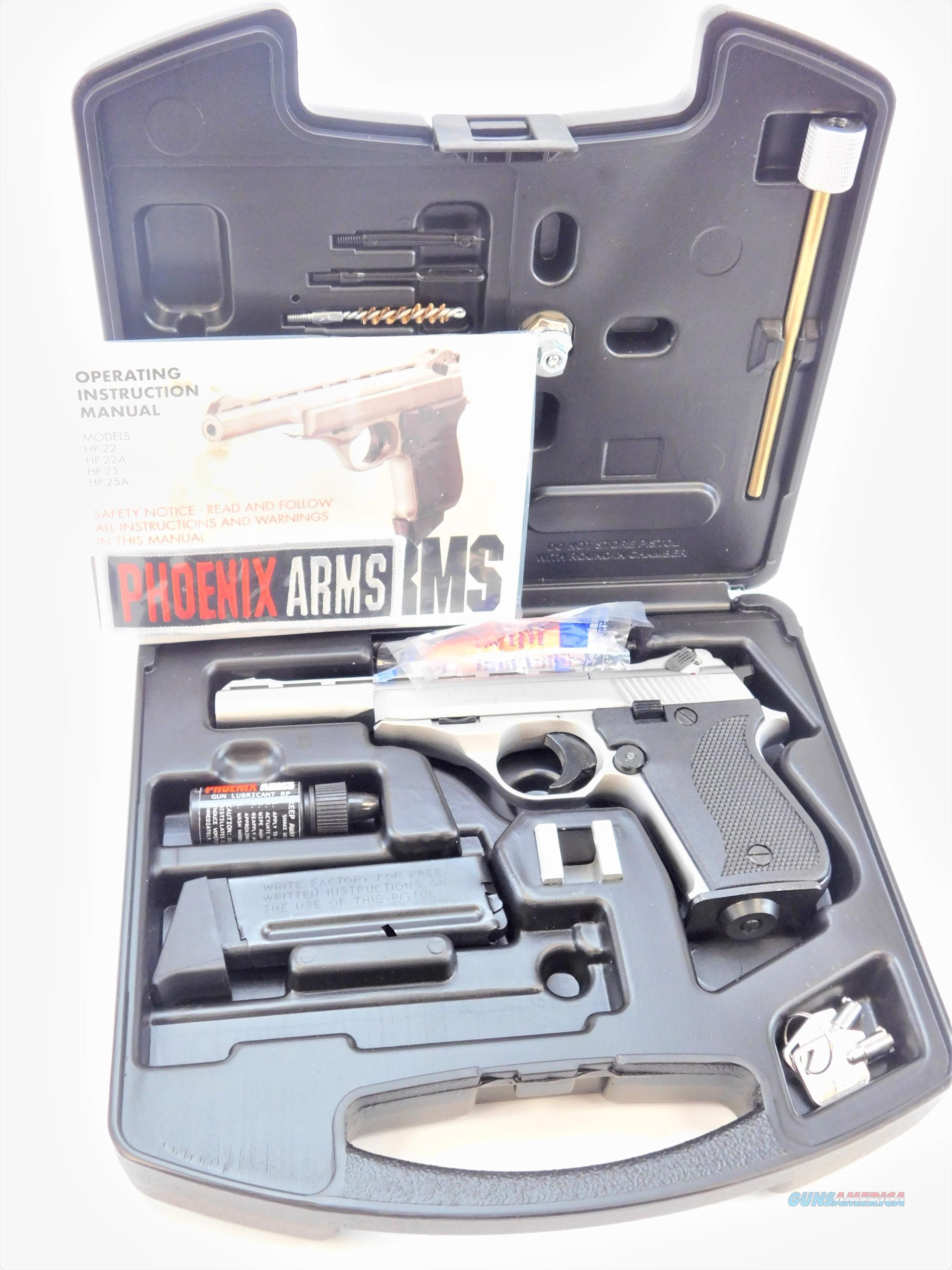 "Phoenix Arms Rangemaster Kit .22 LR Nickel 5"" RGM22ANB   Guns > Pistols > Phoenix Pistols"