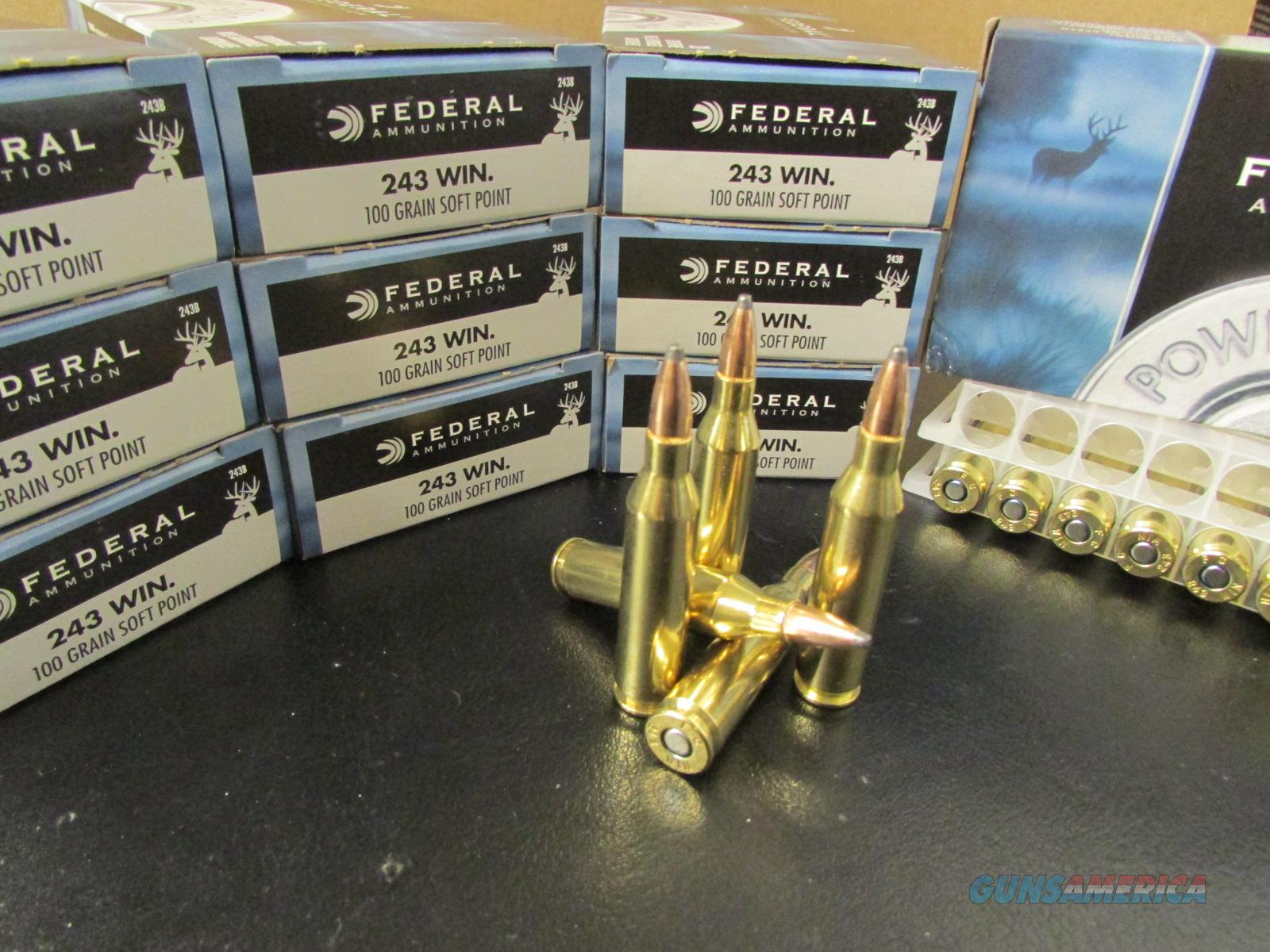 200 ROUNDS FEDERAL POWER-SHOK 100 GR .243 WIN. SKU: 243B  Non-Guns > Ammunition