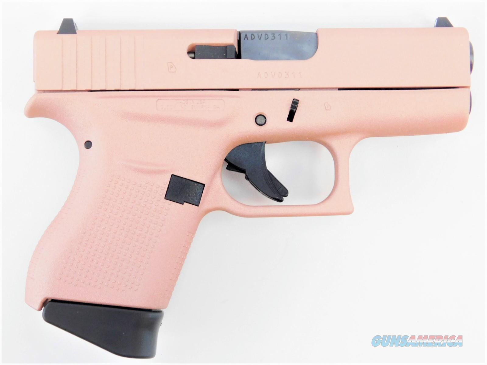 "Glock G43 USA 9mm Luger 3.39"" Rose Gold 6 Rds GLOGUI4350201RG  Guns > Pistols > Glock Pistols > 43/43X"