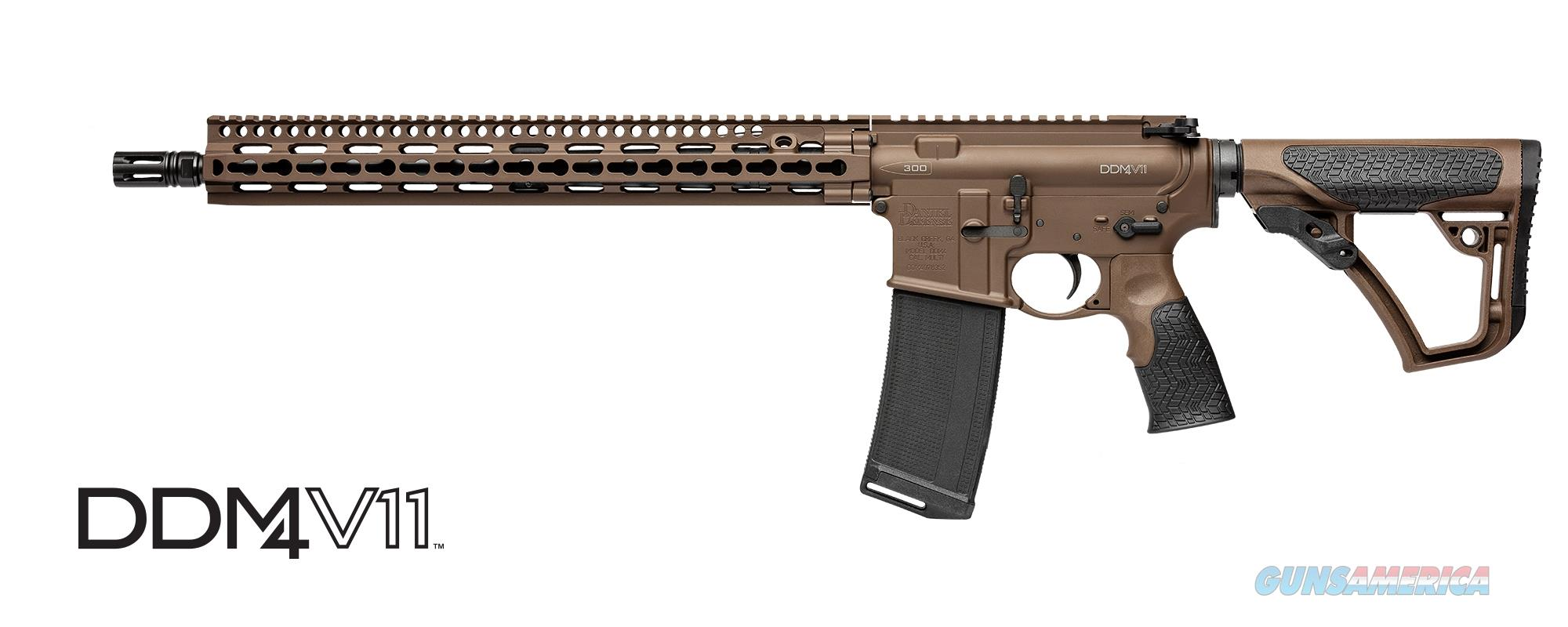 Daniel Defense DDM4V11 Mil Spec+ Cerakote 300 BLK 02-151-16191-047  Guns > Rifles > Daniel Defense > Complete Rifles