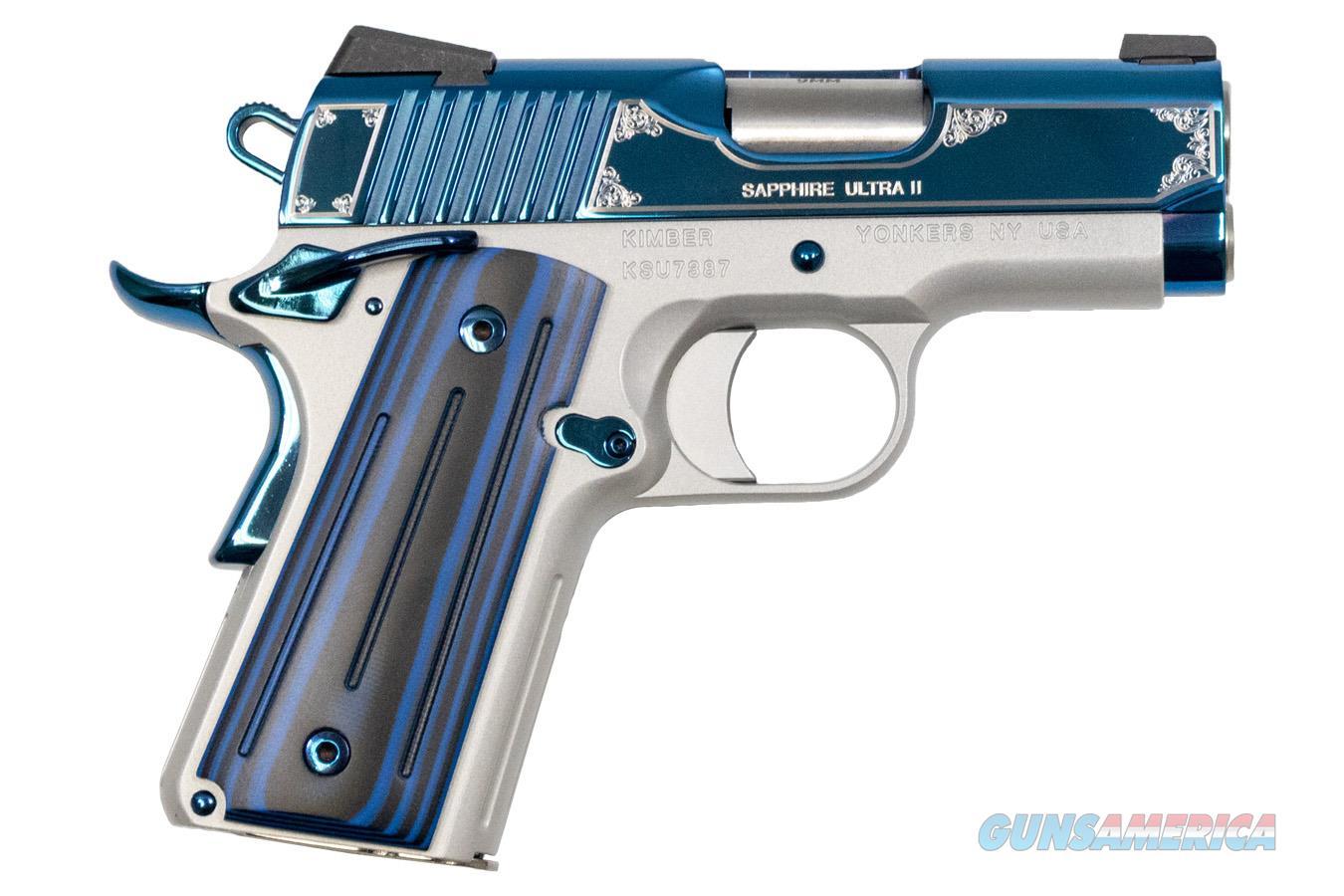 "Kimber Sapphire Ultra II 9mm 3"" 8 Rounds 3200273  Guns > Pistols > Kimber of America Pistols"