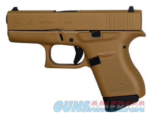 """Glock G43 GEN3 9mm Tactical Coyote Tan 3.39"""" PI4350201TCT  Guns > Pistols > Glock Pistols > 43"""