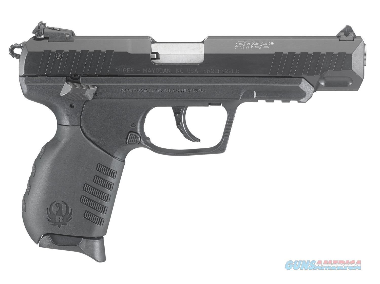 "Ruger SR22 Black .22 LR 4.5"" 10 Rounds 3620  Guns > Pistols > Ruger Semi-Auto Pistols > SR Family > SR22"