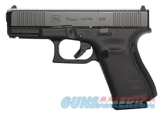 "Glock G19 Gen 5 MOS 9mm 4.02"" 15 Rds PA195S203MOS  Guns > Pistols > Glock Pistols > 19"