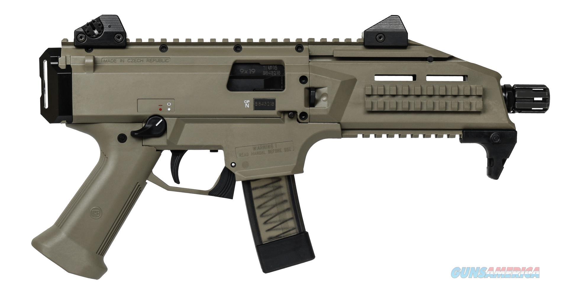 "CZ-USA Scorpion EVO 3 S1 9mm FDE 7.72"" Threaded 91352   Guns > Pistols > CZ Pistols"