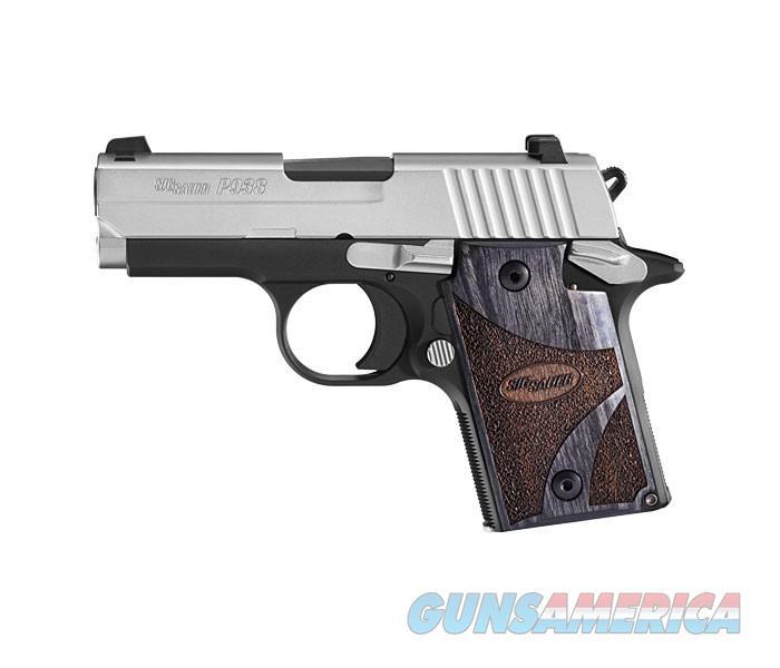"Sig Sauer P938 Blackwood 9mm Two-Tone 3"" 6 Rds 938-9-BG-AMBI  Guns > Pistols > Sig - Sauer/Sigarms Pistols > P938"