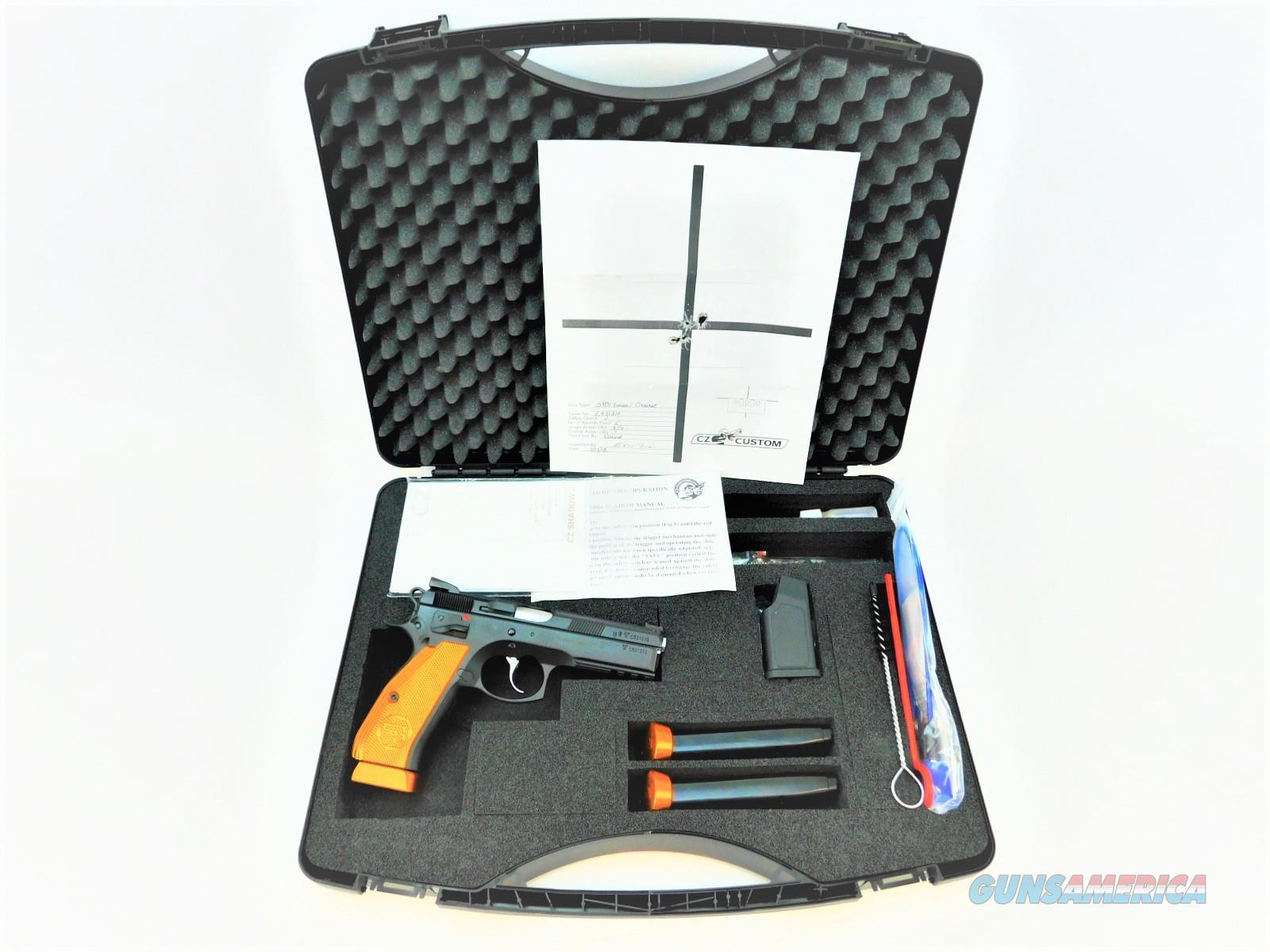 CZ-USA CZ CUSTOM SHOP 75 SP-01 SHADOW ORANGE 9MM LUGER SKU: 91764  Guns > Pistols > CZ Pistols