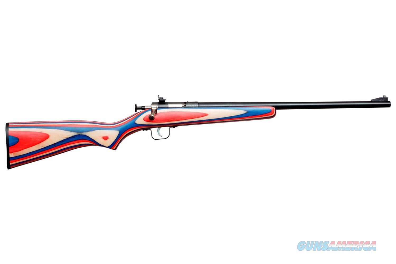 Keystone Crickett Single Shot .22 LR Red/White/Blue Laminate KSA2253  Guns > Rifles > K Misc Rifles