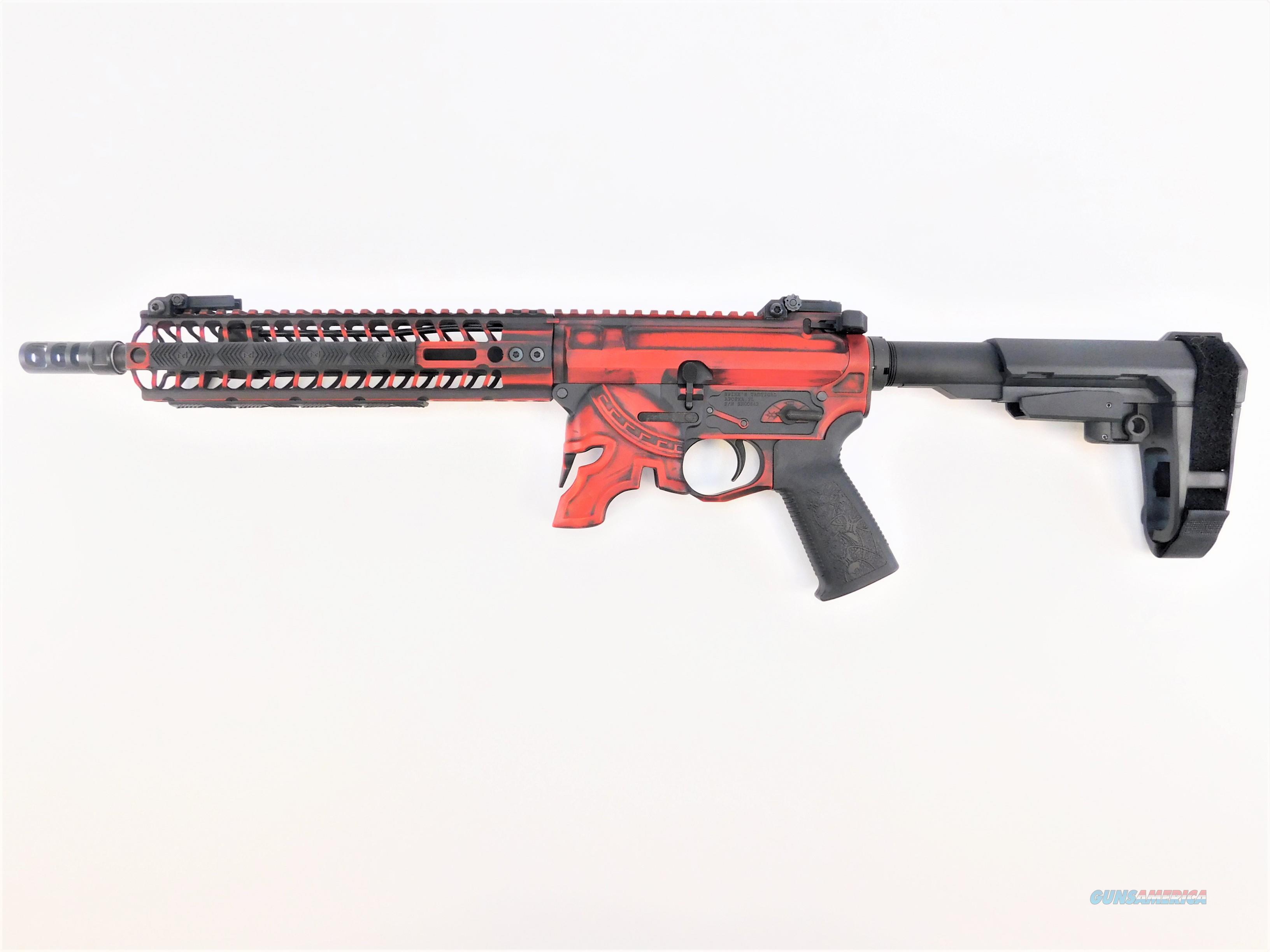 "Spike's Tactical Rare Breed Spartan AR Pistol 11.5"" 5.56 NATO Battleworn Red STP5607-M1R   Guns > Pistols > Spikes Tactical Pistols"