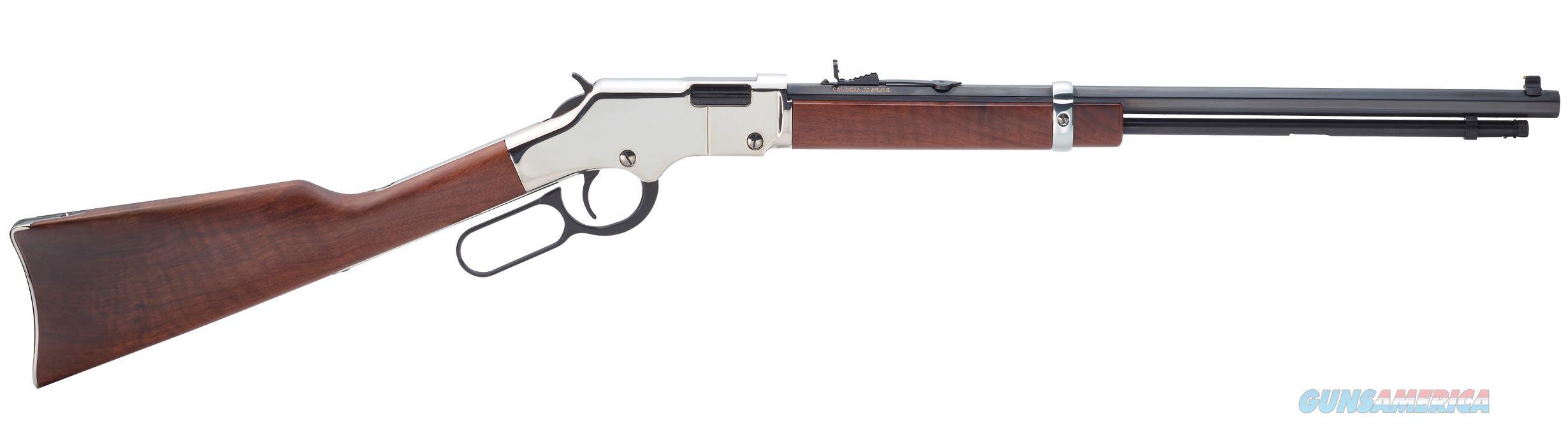 "Henry Golden Boy Silver .22 S/L/LR 20"" Octagon H004S   Guns > Rifles > Henry Rifle Company"