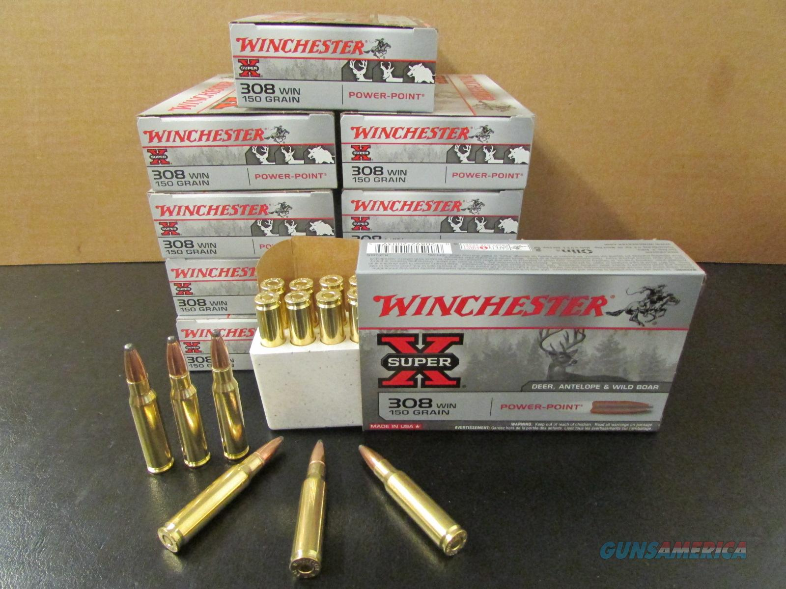 200 Rounds Winchester Super-X 150 Gr PP .308 Win  Non-Guns > Ammunition