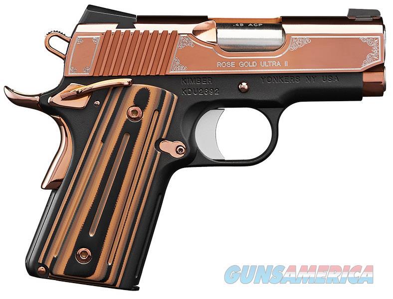 "Kimber Rose Gold Ultra II .45 ACP 3"" 7 Rounds 3200373  Guns > Pistols > Kimber of America Pistols"
