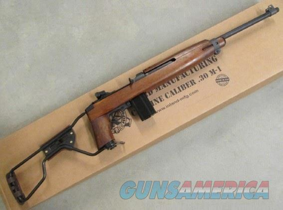 "Inland MKS M1A1 Paratrooper 18"" 15+1 .30 Carbine ILM150   Guns > Rifles > Tactical Rifles Misc."