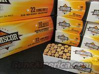 1000 ROUNDS ARMSCOR COPPER PLATED .22LR 22 LR HP  Non-Guns > Ammunition