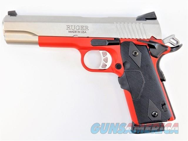 RUGER SR1911 .45 ACP LASERGRIPS CERAKOTE USMC RED   Guns > Pistols > Ruger Semi-Auto Pistols > 1911