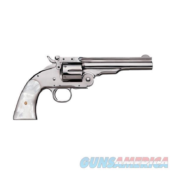 "Uberti 1875 No. 3 Top Break 2nd .38 Special 5"" Nickel 348574  Guns > Pistols > Uberti Pistols > Ctg."