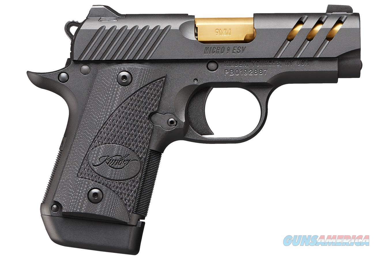 "Kimber Micro 9 ESV Black 9mm 3.15"" Gold 3300199   Guns > Pistols > Kimber of America Pistols > Micro 9"