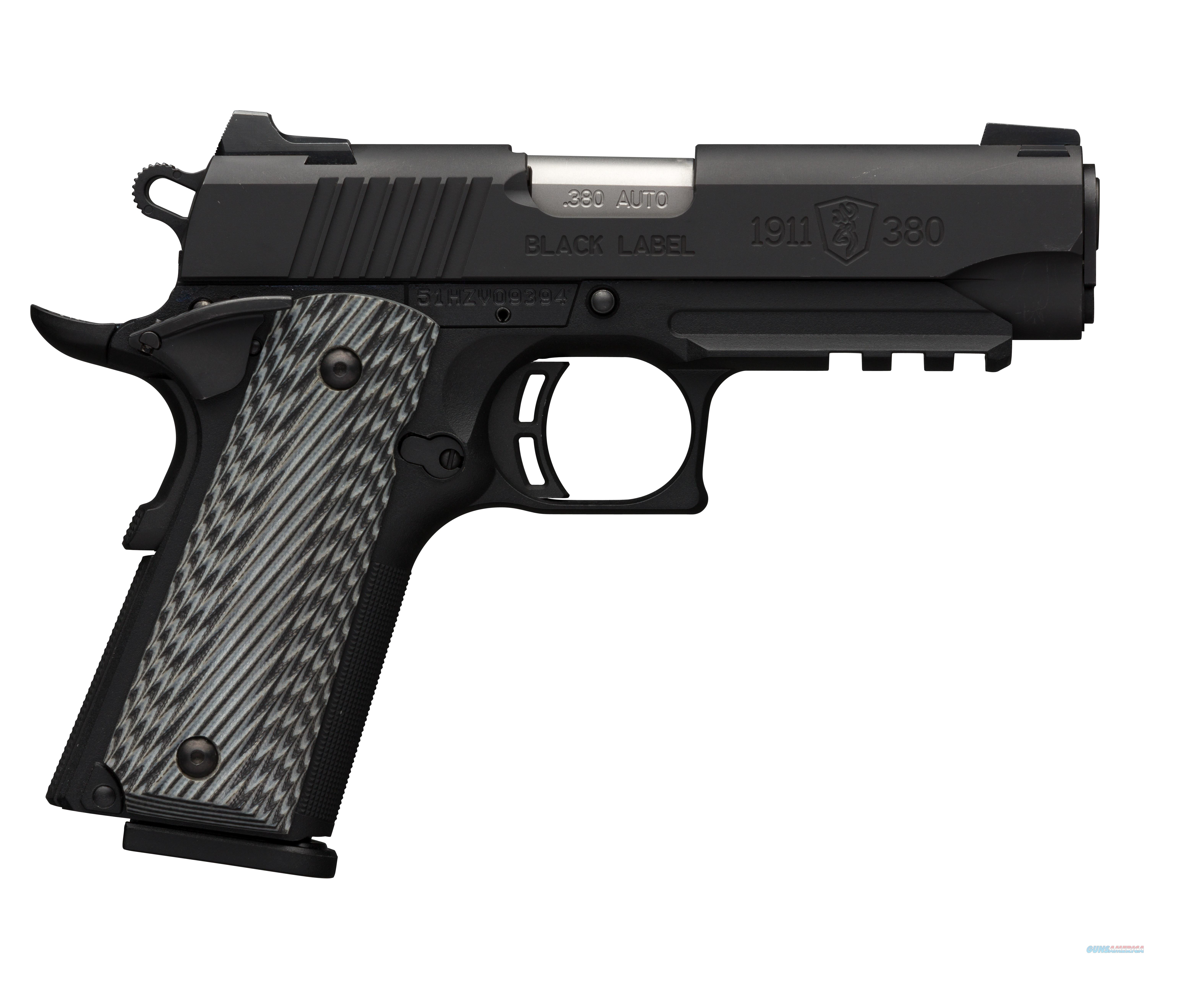 BROWNING 1911-380 BLACK LABEL PRO .380 ACP/AUTO 051911492  Guns > Pistols > Browning Pistols > Other Autos