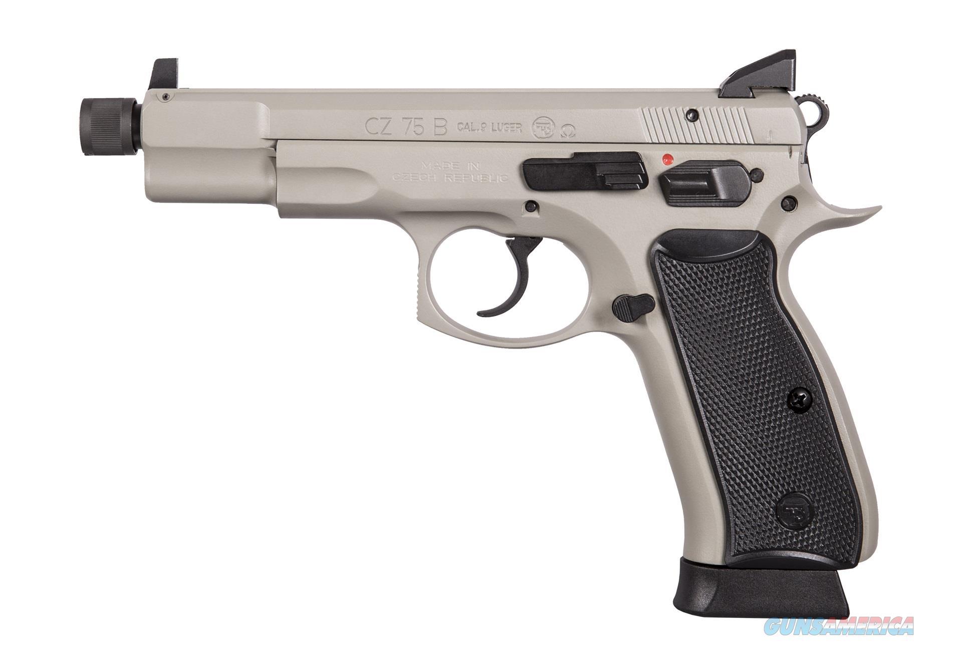 "CZ-USA CZ 75 B Urban Grey 9mm Omega 5.21"" Suppressor Ready 91235   Guns > Pistols > CZ Pistols"
